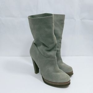 Cole Haan Gray Suede Heeled Boots 7B